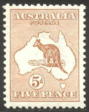 AUSTRALIA #7 Mint - 1913 5p Orange Brown