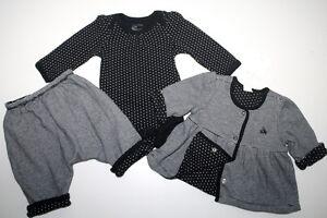 NWOT Baby Gap American in Paris Reversible Jacket Pants Top 3pc Set Size 0-3 M