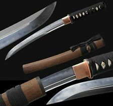 Japanese Samurai Short Sword Katana Dagger Tanto Clay Tempered T10 Steel Sharp