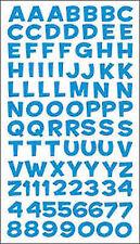 Sticko Alphabet Stickers-fun House Blue Metallic Set of 6