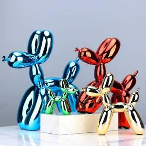 Nordic Resin Dog Crafts Electroplating Balloon Sculpture Home Decorations modern