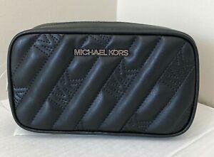New Michael Kors Rose Belt bag Quilted Vegan Leather Black
