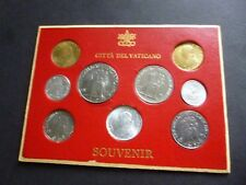 Vatican City 9 coins set:1942,1958,1960,1961 Uncirculated