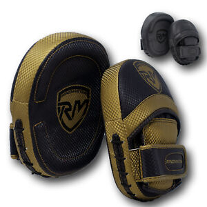 RingMaster Focus Pads Hook Jab Mitts Target Curved Training Boxing MMA Martial