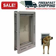 Extreme Weather Pet Door Medium Exterior Entry Dog Cat Vinyl Plastic Heavy Duty