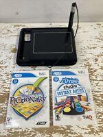 Wii uDraw Game Tablet Black Lot w/ 2 Games Bundle U Draw Studio + Pictionary