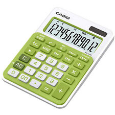 Casio MS-20NC-GN Basic Calculator LARGE DISPLAY Tax Calculations MS20NC Green