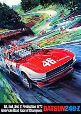"240Z Sweeps ARRC Podium poster (24""x34"") sold by Peter Brock BRE!"