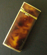 """""""Mandor"""" Vintage 1980's Lacquered Lighter by Colibri Very Slim Brown Marbled"""
