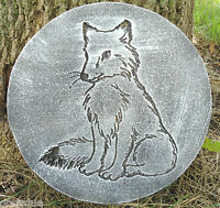 Fox plaque plastic garden casting plaque mold mould  see more in my store