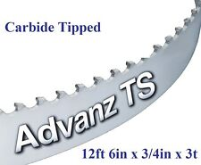 "12' 6"" (150"") x 3/4"" x 3T CARBIDE TIPPED BANDSAW BLADE!"