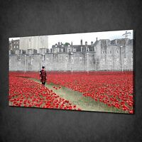 TOWER OF LONDON RED POPPIES TRIBUTE BOX CANVAS PRINT WALL ART PICTURE