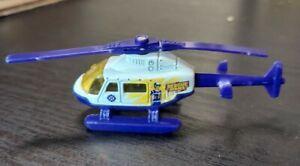 Matchbox Purple White Chopper Rescue Chopper Helicopter