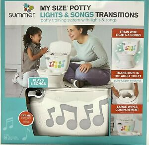 Summer Toddler My Size Potty Training System Lights Songs Transition Ring White