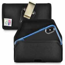 Belt Clip fits iPhone XS with OTTERBOX STATEMENT Black Nylon Holster Pouch Clip