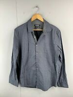 Connor Men's Long Sleeve Button Up Shirt Size L Grey Black