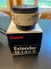 Canon Extender EF 1.4X II Teleconverter Lens - MINT Condition