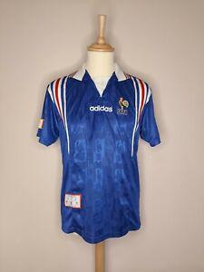 Rare Original 1996-1997 France Home Shirt Adidas Medium Men's VGC