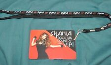 Shania Twain Rock This Country Tour Exclusive VIP Lanyard & Pass+now w/Free Gift