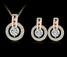 Wedding Jewellery Set Bridal Jewelry Crystal CZ Bride Earrings and Necklace NEW
