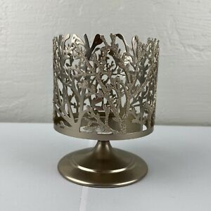Bath & Body Works Silver Metal Sparkle Coral Reef Pedestal 3 Wick Candle Holder