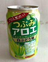 Sangaria, Tsubumi Aloe, White Grape Juice Drink with Aloe Pulp, 280g, Japan