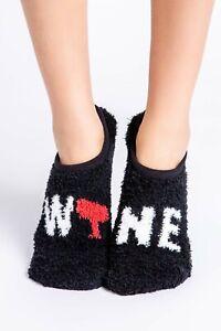 PJ Salvage Women's Wine Slipper Socks