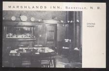 Postcard SACKVILLE New Brunswick/CANADA  Marshlands Inn Interior view 1940's?
