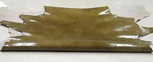 Green Lizard Embossed Patent Goat Skin Leather Hide Crafts Handbag Earrings