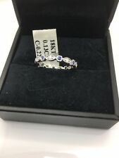 18k White Gold Diaamond And Sapphire Eternity Ring Sise 6