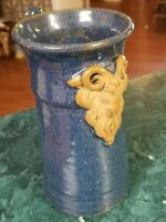 Vintage studio pottery coffee mug signed Fitch 96