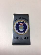 UNITED STATES AIR FORCE LOGO MONEY CLIP NEW