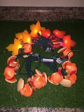 New Set Of 20 Thanksgiving/Fall Rustic Gobbler Turkey & Leaf Blow Mold Lights