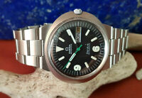 USED VINTAGE OMEGA DYNAMIC BLACK DIAL DAYDATE AUTOMATIC MAN'S WATCH