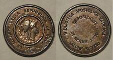 medaglia esposizione delle monete romane republbicane biblioteca apostolica vati