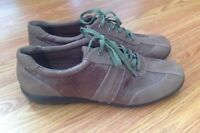 EASY SPIRIT BROWN LEATHER / SUEDE LACE COMFORT WALKING OXFORD SHOES Sz. 9.5 M