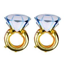 2pcs Diamond Ring Foil Balloons Wedding Engagement Valentines Table Decor