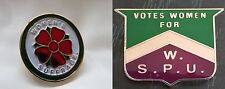 Two Replica Suffragette Suffragettes Badges / Brooches / Pins Clover and Chevron