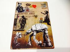 BANKSY tin Plaque Sign Poster Picture Graffiti art print Star Wars Street Art