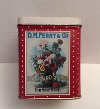 Vtg BRISTOL WARE D.M.FERRY & COS SEEDS BISCUIT ADVERTISING Empty TIN BOX
