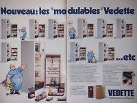 PUBLICITÉ DE PRESSE 1979 VEDETTE LES RÉFRIGÉRATEURS MODULABLES - ADVERTISING
