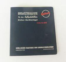 Eicher Geräteträger Type G 200 Ersatzteilliste Original