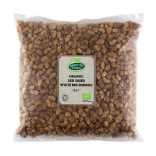 Organic Sun Dried White Mulberries 1kg Certified Organic