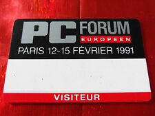 TRES RARE CARTE DE SALON - PC FORUM EUROPEEN - PARIS - 1991
