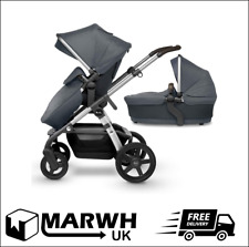Silver Cross Wave Fully Adjustable 2 In 1 Tandem Baby Pram Pushchair Buggy