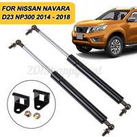 2X Front Hood Bonnet Gas Strut Damper Kit For Nissan Navara NP300 D23