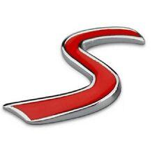 Logo Insigne Emblème tableau de bord Sigle S pour Mini cooper S NEUF en métal