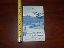 Pikes Peak Auto Highway National Forest Colorado Springs Map