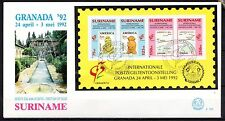 Suriname - 1992 Stamp exhib. Granada / UPAEP -  Mi. Bl. 57 clean FDC