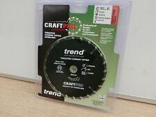 CLEARANCE LINE TREND 160MM 24T 20MM BORE CIRCULAR SAW BLADES TCT CSB/TC16024
